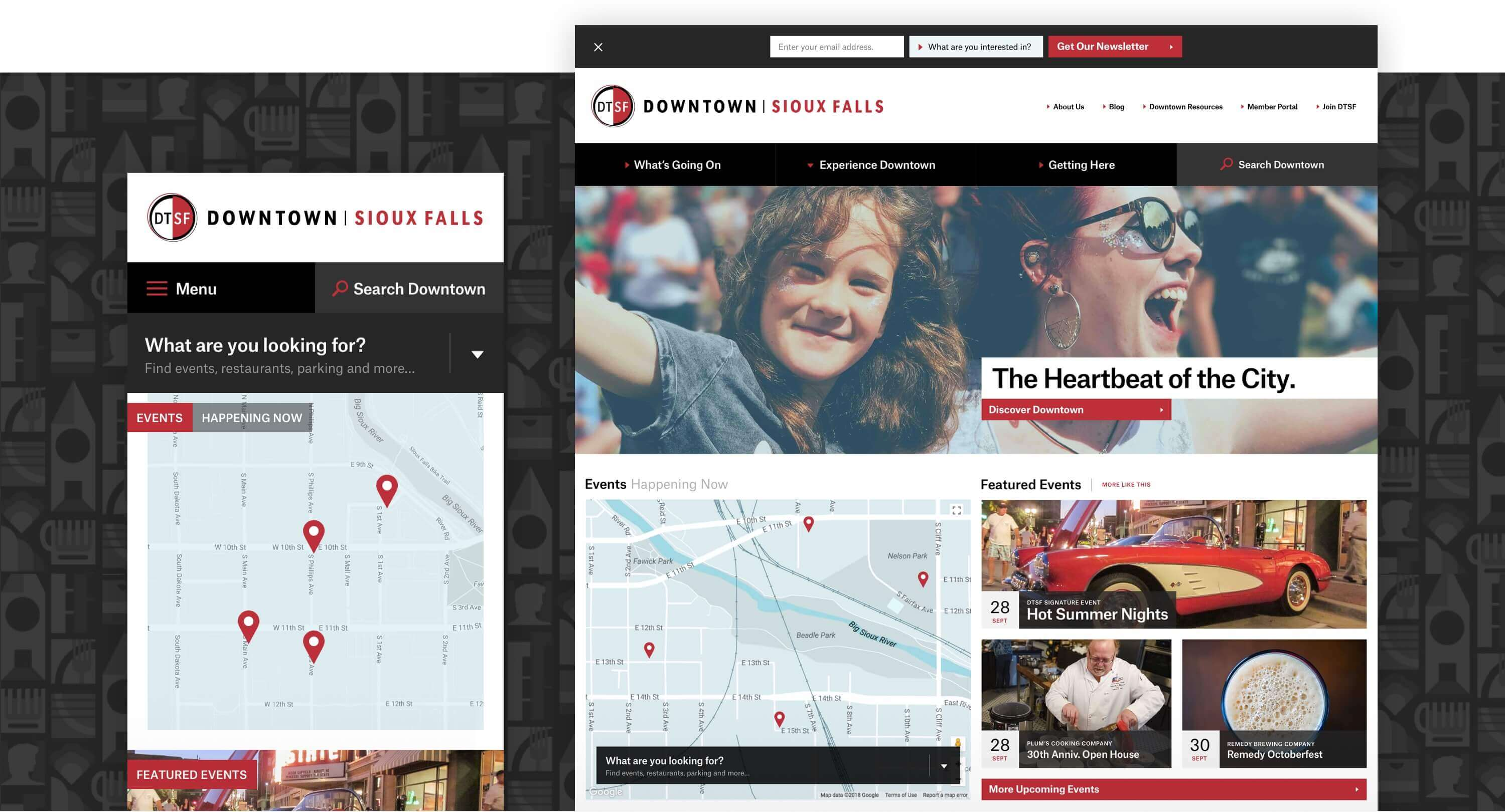 Downtown Sioux Falls homepage details